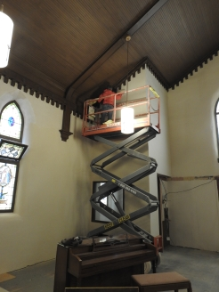 Painting the rest of the church