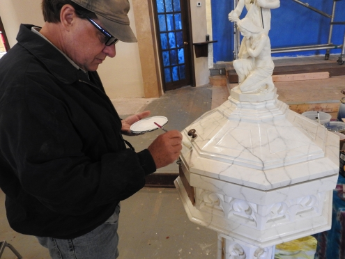Painting the font